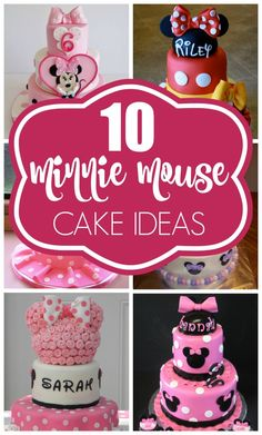 10 Cutest Mini Mouse Birthday Cakes on www.prettymyparty.com.