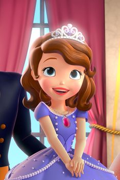 Sofia The First Cartoon, Sofia The First Characters, Princess Sofia The First, Princes Sofia, Princess Charm School, Disney Barbie Dolls, Sofia The First Birthday Party, Animated Cartoon Characters, Character Design Girl