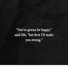 First be strong