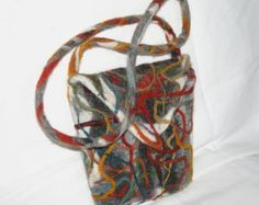 At the centre of the grove an ancient weirwood brooded over a small pool where the waters were black and cold. The heart tree, Ned Stark called it. Favourite books are another source of inspiration for me, especially science fiction and fantasy stories. In this case it was the idea of a strange tree with white bark red sap and red leaves....  This unique bag, inspired by George R.R. Martins well known saga A Game of Thrones, has been handmade using natural coloured and indigo dyed fleece…