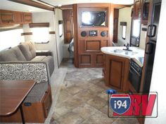 Palomino Solaire 317BHSK Bunkhouse Travel Trailer Camper RV Interior