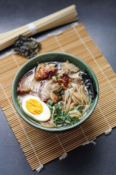 Like most great ramen dishes, this is a time consuming recipe in order to allow for the flavors to develop. The long process results in a really amazing noodle soup bowl with beautiful robust flavor.