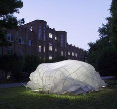 Weaving carbon fiber pavilion designed by University of Tokyo's T_ADs team » Retail Design Blog