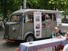 Citroen HY van selling Crepes.  Citroen food truck