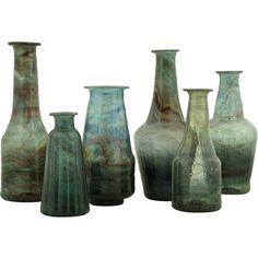 Jayson Home Bottle Vases ($48) ❤ liked on Polyvore featuring home, home decor, vases, decor, bottles, backgrounds, fillers, handmade glass vase, glass bottle vase and recycled glass bottle vases