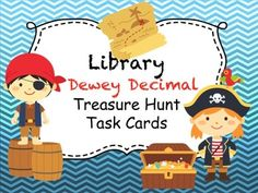 Cute task cards for the Dewey Decimal system! These are perfect for any library or even to have on hand in-case the school library is closed for the day on library day!