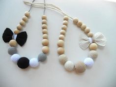 Beige Shade Nursing Necklace/Teething Necklace di sweetshtuchky