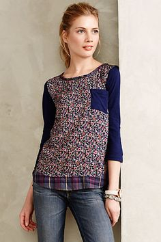 Farrago Tee - anthropologie.com love all the colors available in this top, except maybe the blue paisley print.
