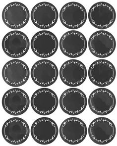 Cookieria By Margaret: Chalkboard Style para o Ano Novo. Pantry Organization Labels, Pantry Labels, Canning Labels, Canning Recipes, Spice Jar Labels, Spice Jars, Circle Labels, Round Labels, Kitchen Labels