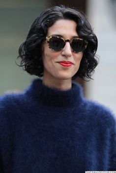 Hair and mohair (and sunnies and red lipstick)  Jasmine Sewell