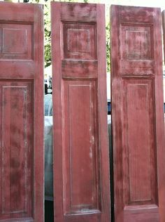 Doors distressed and painted by Jennifer Ryan Design, via Flickr