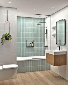Future Home Interior Bathroom. Residential project in Madrid, Spain Upstairs Bathrooms, Downstairs Bathroom, Bathroom Inspo, Bathroom Renos, Bathroom Inspiration, Bathroom Ideas, Loft Bathroom, Ikea Bathroom, Family Bathroom