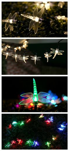 Solar Dragonfly Garden Stake Colour Changing LED Lights Pond Path Rockery Decor