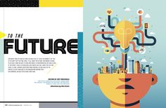 Baltimore Magazine. February 2016. To The Future. Illustrations by Aldo Crusher.