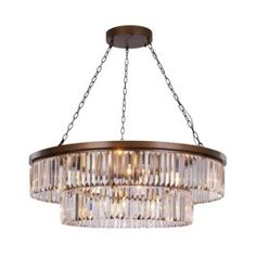 Take a look at the Crystalline 10 Light Ceiling Pendant at LuxDeco.com