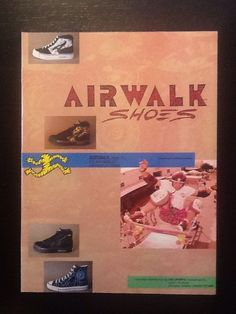 tony magnusson airwalk skateboards ad 1987 vintage free ship from $7.95