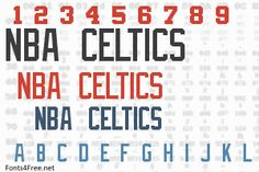 NBA Celtics font, aka Boston Celtics font is a fancy, old-school font designed by Eriq P. NBA Celtics font is free for both personel and commercial usages. Old School Fonts, Celtic Fonts, Boy Room, Nba, Rooms, Graphic Design, Designer Fonts, Bedrooms, Boy Rooms