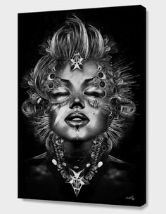 """FANTASMAGORIK®MONROE"", Limited Edition Canvas Print by Nicolas OBERY - From $110.00 - Curioos"