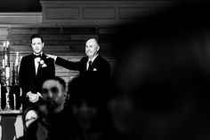 Groom the first time he see's his bride walking down the aisle. Wedding Photojournalism by Denver Wedding Photographer Selah Photography.