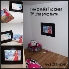 GiGi's Doll and Craft Creations - how to make flat TV screen to hang on wall