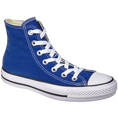 Converse All Star Hi Top Boots (Roadtrip Blue) ($49) ❤ liked on Polyvore featuring shoes, hi tops, high top shoes, blue color shoes, converse shoes and converse footwear