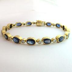 Bracelet or saphirs diamants 162