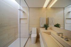 Decoração de: Banheiro; vaso transparente; Casa de Valentina