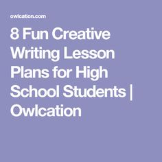 poetry creative writing lesson plans Readwritethink has hundreds of standards-based lesson plans written and reviewed by educators using current research and the best instructional practices find the perfect one for your classroom.