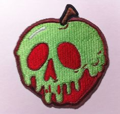 Poison+Apple+Embroidered+Patch++Inspired+by+Disney+Snow+by+MyHoard,+$5.00