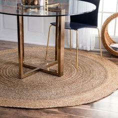 Shop for nuLOOM Alexa Eco Natural Fiber Braided Reversible Border Jute Grey Rug (8' Round). Get free shipping at Overstock.com - Your Online Home Decor Outlet Store! Get 5% in rewards with Club O!
