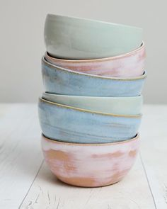 A bit of colour for your Friyay . . . This satisfying stack of little bowls is heading west - very west! - all the way to British Columbia Canada. I was lucky enough to go to that beautiful part of the world a few years ago to visit one of my bestest friends who emigrated there. It was such a fun trip. We nearly saw a bear! (Other walkers in the Forrest kept telling us about the bear- be careful theres a bear ahead - but alas we never had our encounter) Do you know that there is such a thing…