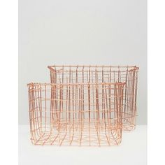 Sass & Belle Pack of 2 Wire Storage Baskets