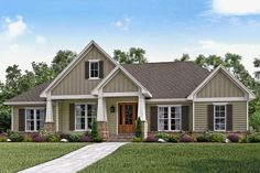 Craftsman Style House Plan - 3 Beds 2.5 Baths 2151 Sq/Ft Plan #430-141 Exterior… More