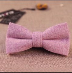 New Purple Tweed Style Pre-tied bow tie & Pocket Square Set. Uk. Great Reviews   eBay