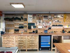Werkstatt By Cosma Design Garage Organization Tips, Garage Storage Solutions, Garage Storage Cabinets, Diy Garage Storage, Garden Tool Storage, Diy Garage Shelves, Barn Storage, Workshop Storage, Built In Storage