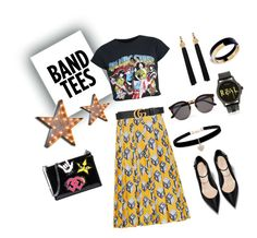 """""""mix"""" by acarine-rios on Polyvore featuring Gucci, Betsey Johnson, Illesteva, Yves Saint Laurent, Vintage Marquee Lights, Dsquared2 and Marni"""