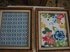 life.love.larson: DIY: Framed Fabric