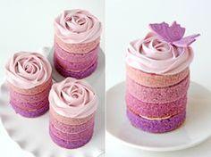 Glorious Treats » Purple Ombre Mini Cakes