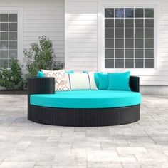 New Fernando Patio Daybed with Cushions by Sol 72 Outdoor top rated furniture sale. Fashion is a popular style Clearance Outdoor Furniture, Outdoor Furniture Sets, Daybed Sets, Patio Loveseat, Outdoor Sofa, Outdoor Decor, Furniture Design, Furniture Sale, Garden Furniture