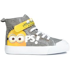 High Tops with Printed Design $17.99 found on Polyvore featuring polyvore, women's fashion, shoes, sneakers, boys, rubber sole shoes, velcro strap shoes, high top velcro shoes, high top trainers and velcro sneakers