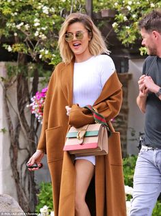 Legging it: Khloe Kardashian showed off her pins during a day out at a Malibu winery on Tu...