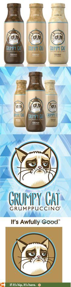 Grumpy Cat Branded Flavored Coffee Drinks, Grumppuccinos, hit the market!