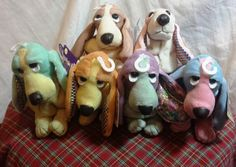 Applause Hush Puppies Bean Bag Collection 3 Complete Set of 6 Plush Dogs | eBay