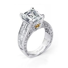18KTW INVISIBLE SET  ENGAGEMENT RING 2.31CT SIGNATURE COLLECTION