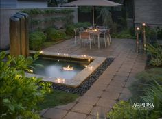 i like the spa that is sunk into the patio