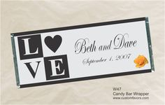 Personalized LOVE blocks for weddings from www.customfavors.com. #wedding #love #chocolate #favors #personalizedcandy