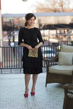 Chic As Can Be Skirt in Classy Black Knee Length