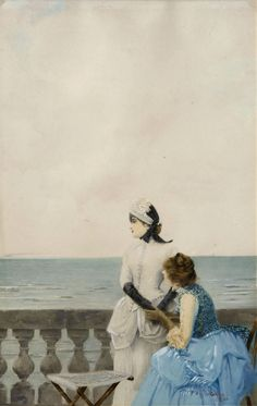 Tell Me Everything ~ Vittorio Matteo Corcos ~ (Italian: 1859-1933)