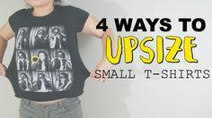 4 WAYS TO UPSIZE T-SHIRTS! @coolirpa (Super Idden für die kleinen Extrapfunde, die man (ich) zugelegt hat!)