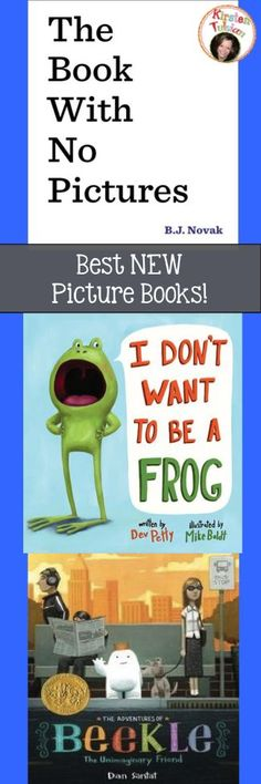 Three of the BEST new picture books now have activity packs! The Book With No Pictures, by BJ Novak, I Don't Want To Be A Frog, by Dev Petty, and The Adventures of Beekle, by Dan Santat. Your students will fall in love with them! https://www.teacherspayteachers.com/Product/Literature-Unit-Picture-Book-BUNDLE-1743875